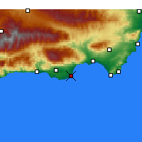 Nearby Forecast Locations - Roquetas de Mar - Mapa