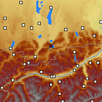 Nearby Forecast Locations - Lago Walchen - Mapa