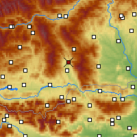 Nearby Forecast Locations - Wolfsberg - Mapa