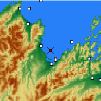 Nearby Forecast Locations - Tasman Bay - Mapa