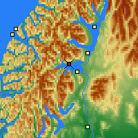 Nearby Forecast Locations - Lake Manapouri - Mapa