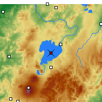 Nearby Forecast Locations - Lago Taupo - Mapa