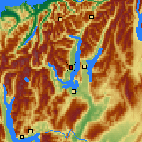 Nearby Forecast Locations - Lake Wanaka - Mapa