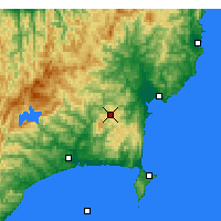 Nearby Forecast Locations - L.Waikaremoana - Mapa