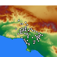 Nearby Forecast Locations - Burbank - Mapa