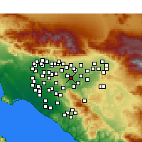 Nearby Forecast Locations - Chino - Mapa