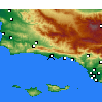 Nearby Forecast Locations - Santa Barbara - Mapa