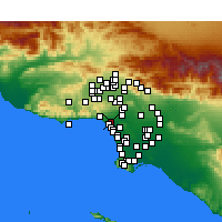 Nearby Forecast Locations - Santa Mónica - Mapa