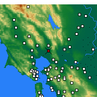 Nearby Forecast Locations - Napa - Mapa
