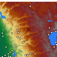 Nearby Forecast Locations - Blue Canyon - Mapa