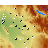 Nearby Forecast Locations - Mesa AFB - Mapa