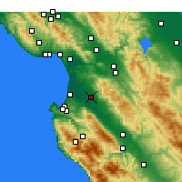 Nearby Forecast Locations - Salinas - Mapa