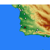Nearby Forecast Locations - Lompoc aeropuerto - Mapa