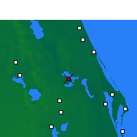Nearby Forecast Locations - Orlando AP/S - Mapa