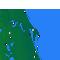 Nearby Forecast Locations - Titusville - Mapa