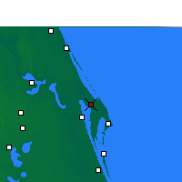 Nearby Forecast Locations - C. Canaveral - Mapa