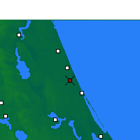 Nearby Forecast Locations - Daytona Beach - Mapa