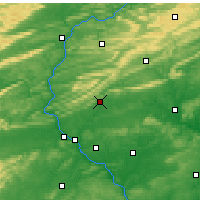 Nearby Forecast Locations - Fort Indiantown Gap - Mapa