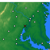 Nearby Forecast Locations - Fort Belvoir - Mapa