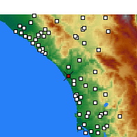 Nearby Forecast Locations - Oceanside - Mapa