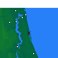 Nearby Forecast Locations - St Augustine - Mapa