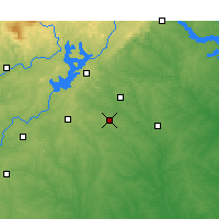 Nearby Forecast Locations - Winder - Mapa