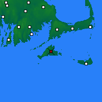 Nearby Forecast Locations - Martha's Vineyard - Mapa