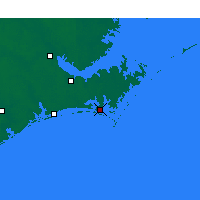 Nearby Forecast Locations - Beaufort - Mapa