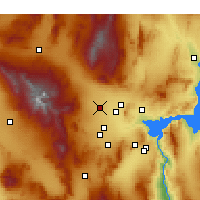 Nearby Forecast Locations - Las Vegas N - Mapa