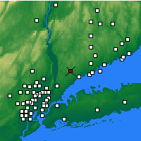 Nearby Forecast Locations - White Plains - Mapa