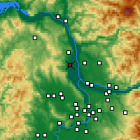 Nearby Forecast Locations - Scappoose - Mapa
