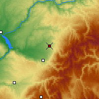 Nearby Forecast Locations - Walla Walla - Mapa