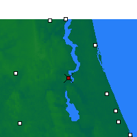 Nearby Forecast Locations - Palatka - Mapa