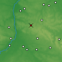 Nearby Forecast Locations - Kraśnik - Mapa