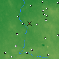 Nearby Forecast Locations - Zduńska Wola - Mapa