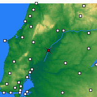Nearby Forecast Locations - Santarém - Mapa