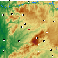 Nearby Forecast Locations - Mangualde - Mapa