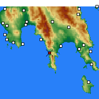 Nearby Forecast Locations - Areopoli - Mapa