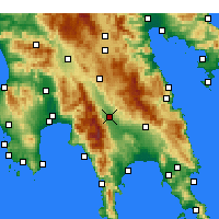 Nearby Forecast Locations - Esparta - Mapa