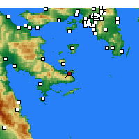 Nearby Forecast Locations - Poros - Mapa
