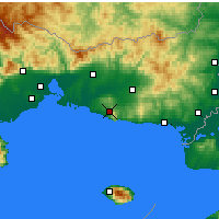 Nearby Forecast Locations - Maronea - Mapa