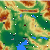 Nearby Forecast Locations - Kilkis - Mapa