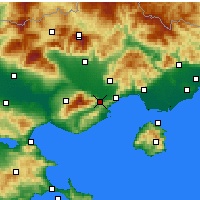 Nearby Forecast Locations - Eleftheroupoli - Mapa