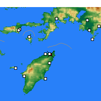 Nearby Forecast Locations - Ialisos - Mapa