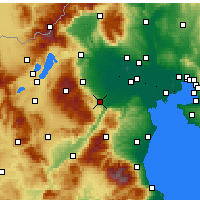 Nearby Forecast Locations - Véria - Mapa