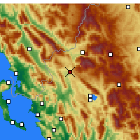 Nearby Forecast Locations - Kalpaki - Mapa