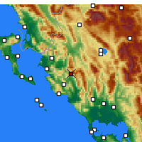 Nearby Forecast Locations - Paramythia - Mapa