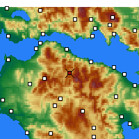 Nearby Forecast Locations - Kalavryta - Mapa