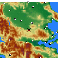 Nearby Forecast Locations - Domokos - Mapa
