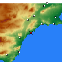 Nearby Forecast Locations - Lorca - Mapa